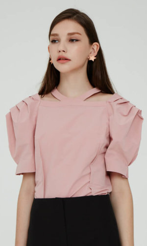 Pink Puffy Sleeved Top