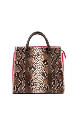 Snakeskin Print Tote Bag