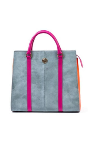 Grey Colourblock Tote Bag