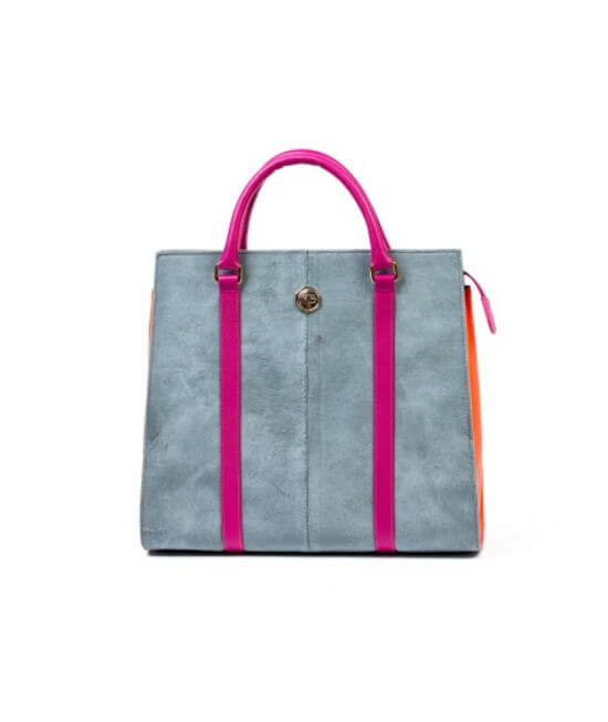 Grey Colourblock Tote Bag