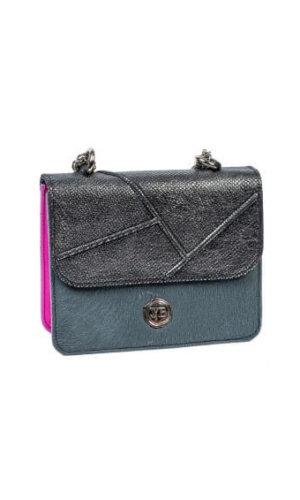 Nailah Metallic Grey Mini Bag