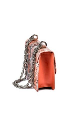 Nailah Snakeskin Print Bag