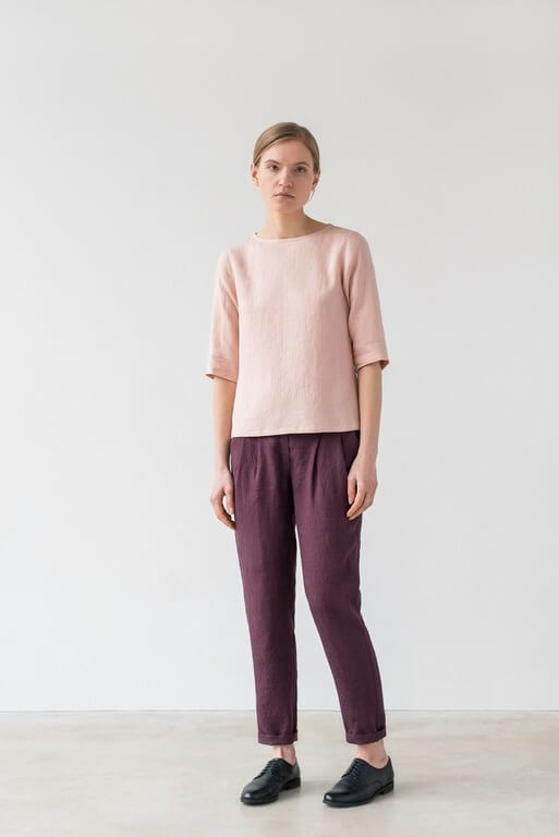 Frances Top in Light Pink Top
