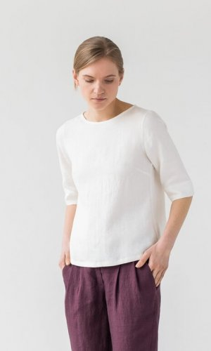Frances Top in White