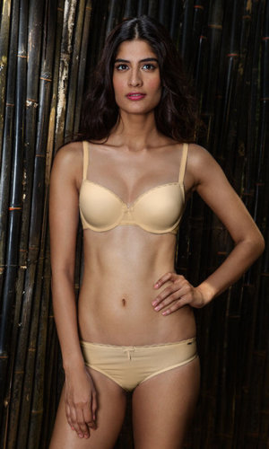 Cotton T-Shirt Bra in Nude