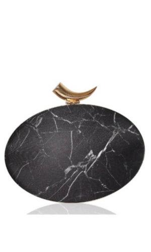Zoi Dark Marble Clutch