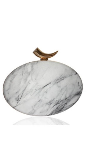 Zoi Light Marble Clutch Bag