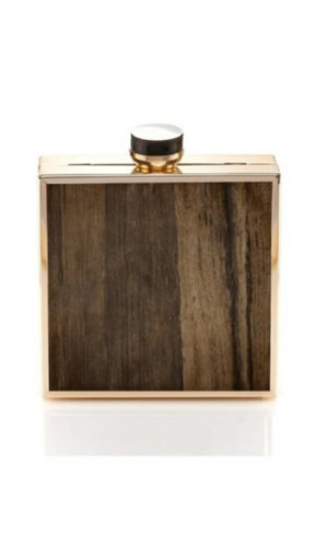 Zarah Rustic Wooden Cltuch Bag