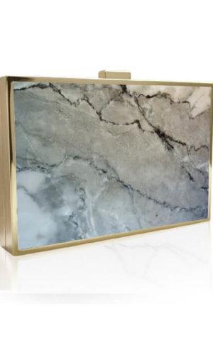 Omani Grey Marble Clutch Bag