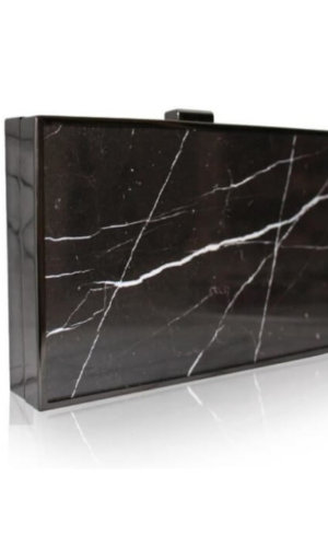 Omani Black Marble Clutch Bag