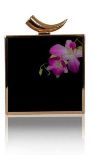 Ahna Pink Orchid Clutch Bag