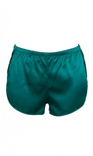 Alloro Green Silk Shorts