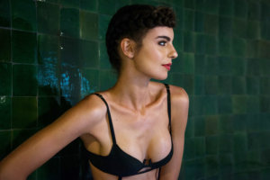 Myrica Black Suspender Bra