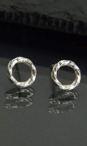 Silver Small Circles Earrings
