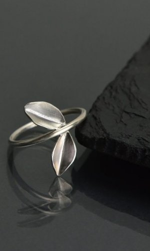 Silver Leaf Ring II.