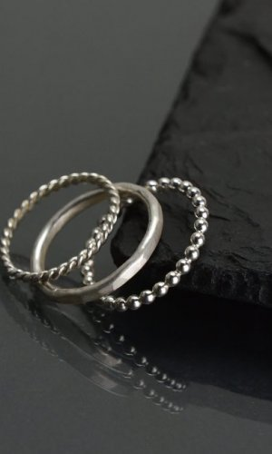 Silver Minimal Stacking Rings