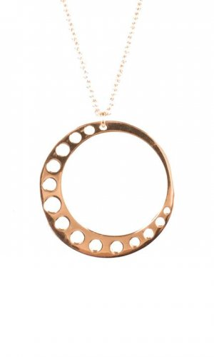 Circle Moon Necklace