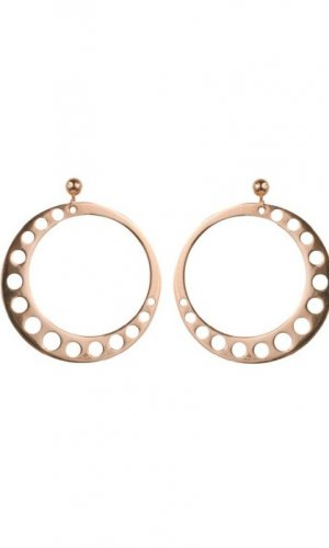 Circle Moon Earrings
