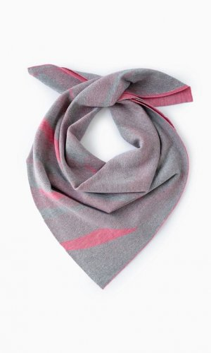 Light Grey & Coral Sand Dune Scarf