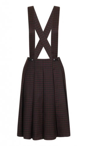 Bea's Bib Grid Check Skirt