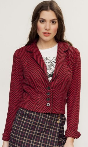 Christine's Chevron Red Blazer