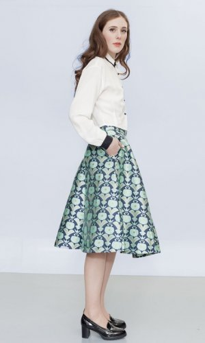 Sina's Seoul Printed Statement Skirt
