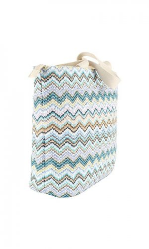 Blue Striped Beach Bag