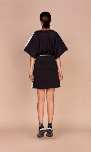 Black White Kimono Vest