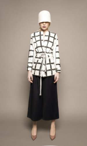 Monochrome Grid Jacket