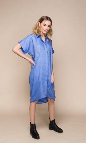 Acurrator Blue Denim Shirt Dress