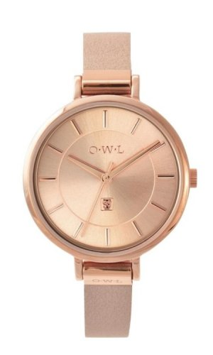 Mayfair Rose Gold & Pink Leather Strap Watch