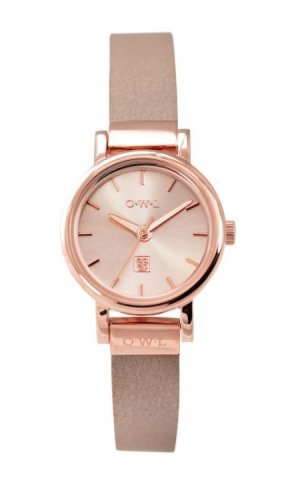 OWL Watches Rose Gold and Pink Leather Watch