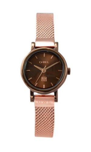 OWL Watch Ashbourne Rose Gold Mesh Strap Watch
