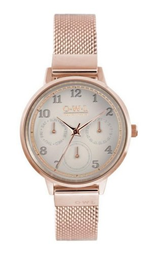 Helmsley Rose Gold Watch With Mesh Strap