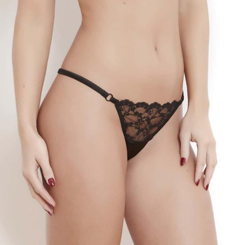 Sophia Black Lace Thong
