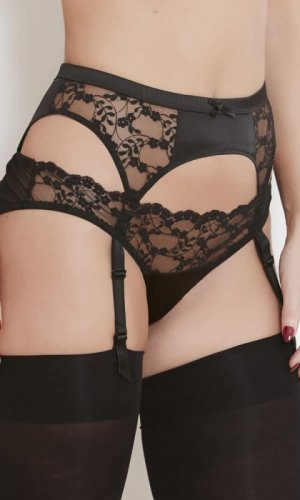 Sophia Black Lace Suspender Belt