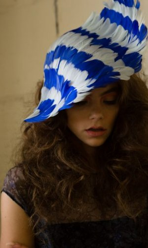 Blue Bird Couture Hat
