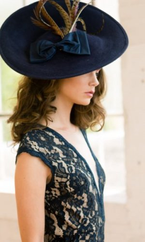 Indigo Couture Disc Hat