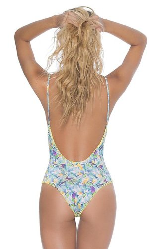 Guacamaya Lace Up Swimsuit