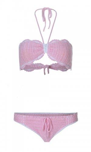 Lilou Pastel Pink Bikini Set