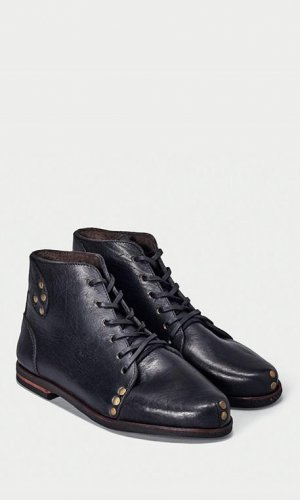 Modern Black Derby Boot