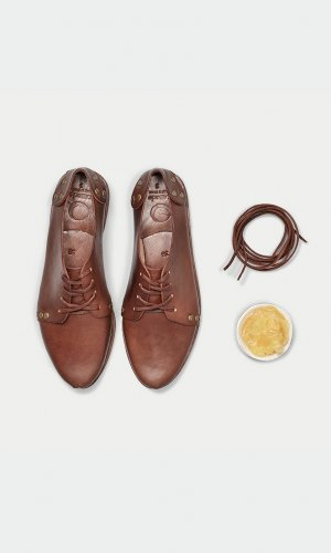Brown Studded Derby Shoe
