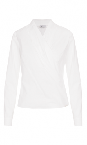 Cara Draped Collar Blouse