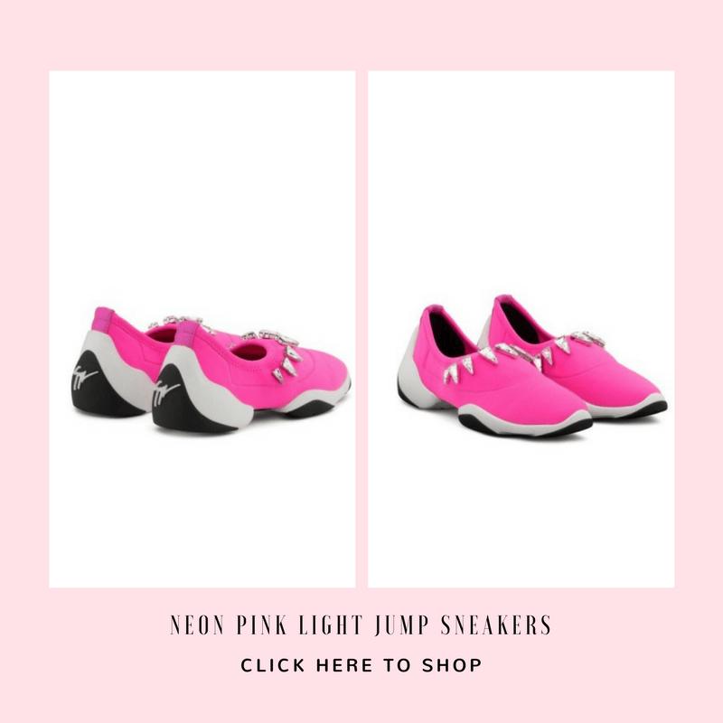 Neon Pink Light Jump Sneakers