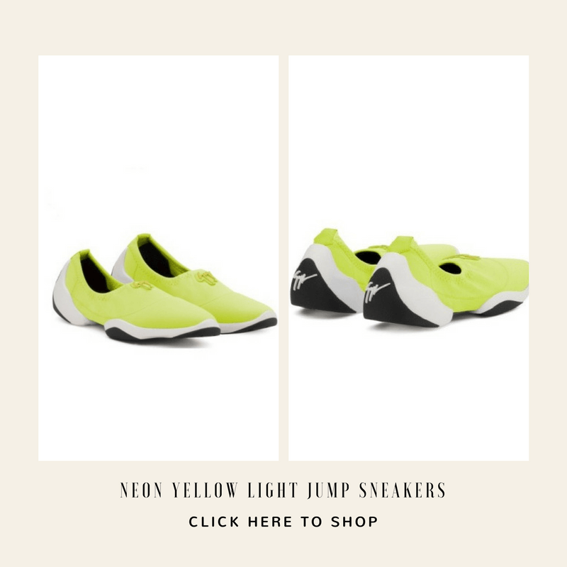 Neon Yellow Light Jump Sneakers