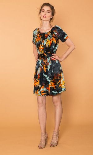 Doreen Printed Silk Dress