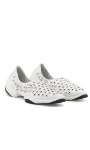 White Nappa Jump Stud Sneakers