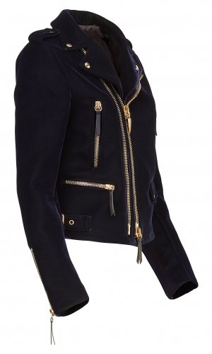 Dark Blue Biker Jacket
