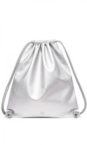 Boo Silver Drawstring Backpack