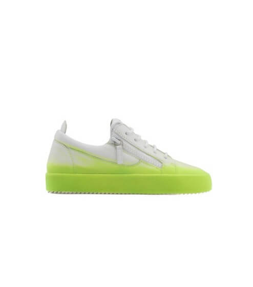 Giuseppe Zanotti Dark leather low-top sneaker with flocking patina THE UNFINISHED E1fFUaKKJN